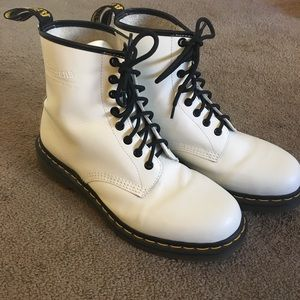 White Dr. Martens! Great condition!